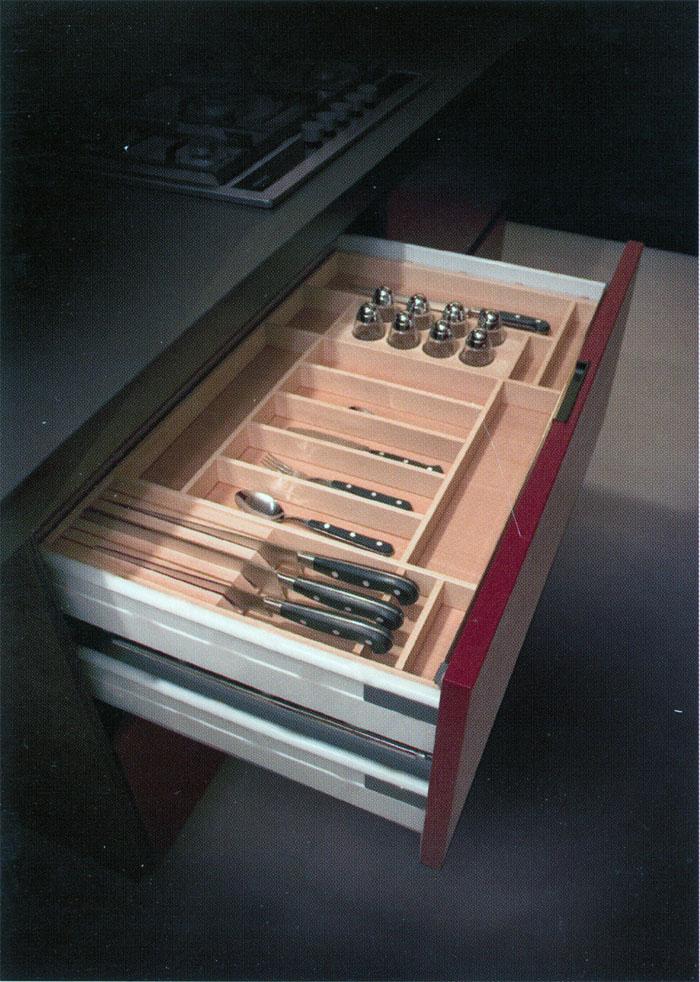 Falegnameria riganti bergamo mobili su misura treviglio - Porta posate da cassetto ...