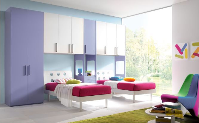 Camere e camerette per bambini su misura falegnameria - Idee per camerette piccole ...