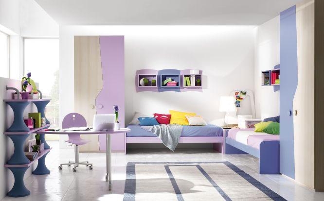 Camere e camerette per bambini su misura falegnameria for Piani di cabina di tronchi di 2 camere da letto